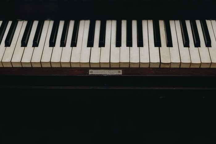 photo of piano keys